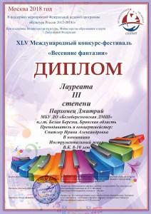 Пархомец Дмитрий ДМШ Белая березка